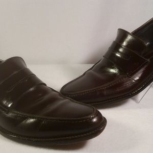 FACONNABLE LEATHER BROWN PENNY LOAFER SHOE SZ 8.5